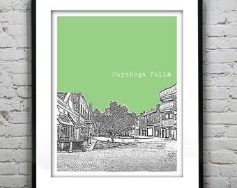Cuyahoga Falls Ohio Poster Art Print OH