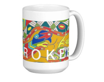 Flying Serpent Mug Tsalagi Cherokee Made