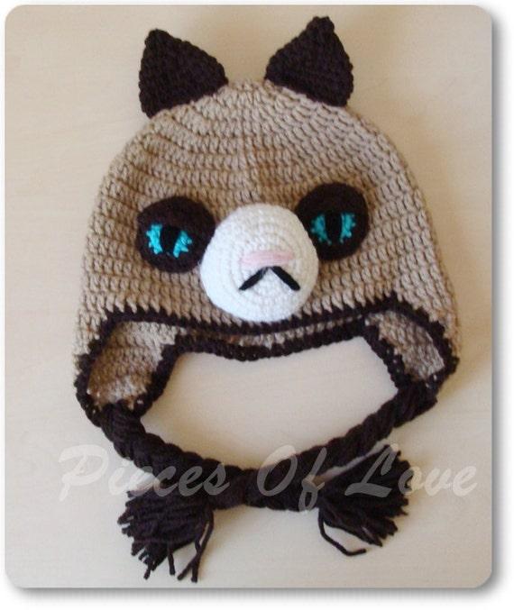 Grumpy Cat Crochet Hat Pattern Free : Crochet Grumpy Cat Hat www.imgarcade.com - Online Image ...