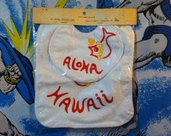 Vintage Aloha Hawaiian Baby Bib