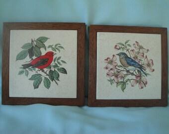 Bird Tile and Wood Trivets/Bird Hot Pads