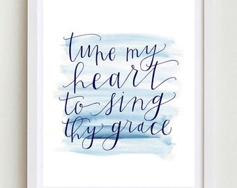 8x10 | Tune My Heart Print