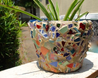 Cool MOSAIC SUMMER PLANTER Flower Pot Indoor/Outdoor