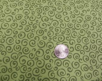 """VIP """"Belinda"""" swirls green fabric"""