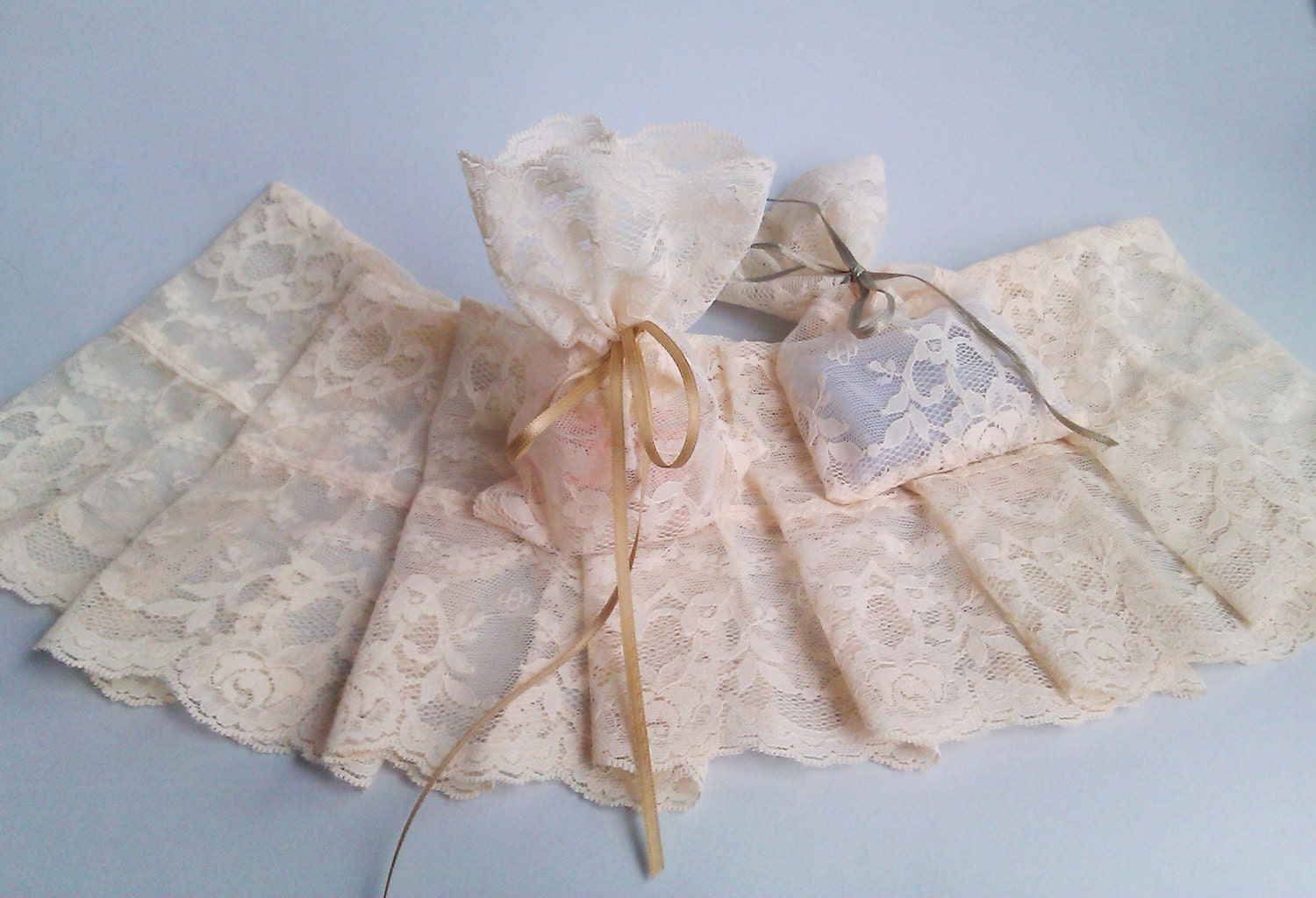 Wedding Favor Bags Lace : One-Of-A-Kind Party Favor Bags Lace Wedding Favor by AlMercatino