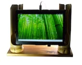 Bamboo tablet/iPad speaker/docking/viewing stand
