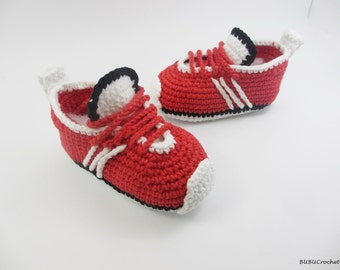 Crochet baby shoes Crochet baby booties Crib shoes Handmade baby shoes