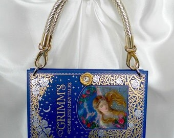 Grimms Fairy Tales Book Handbag UK - Book Cover Bag - Fairy Tales Book - Book Lover Gift