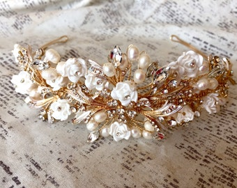 Bridal headpiece, bridal headband, bridal headpieces, bridal headband pearl, bridal hair piece, bridal hair accessories, wedding headband