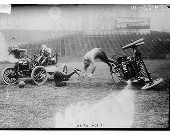 Car Polo Game  1912  Automobile  Photo Print