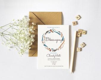 Blessingway Invitation // Mother Blessing Invite // Boho Blessing // Printable Mother Blessing invite // Printable Invitations