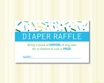 Baby Shower Sprinkle Diaper Raffle Instant Download Printable