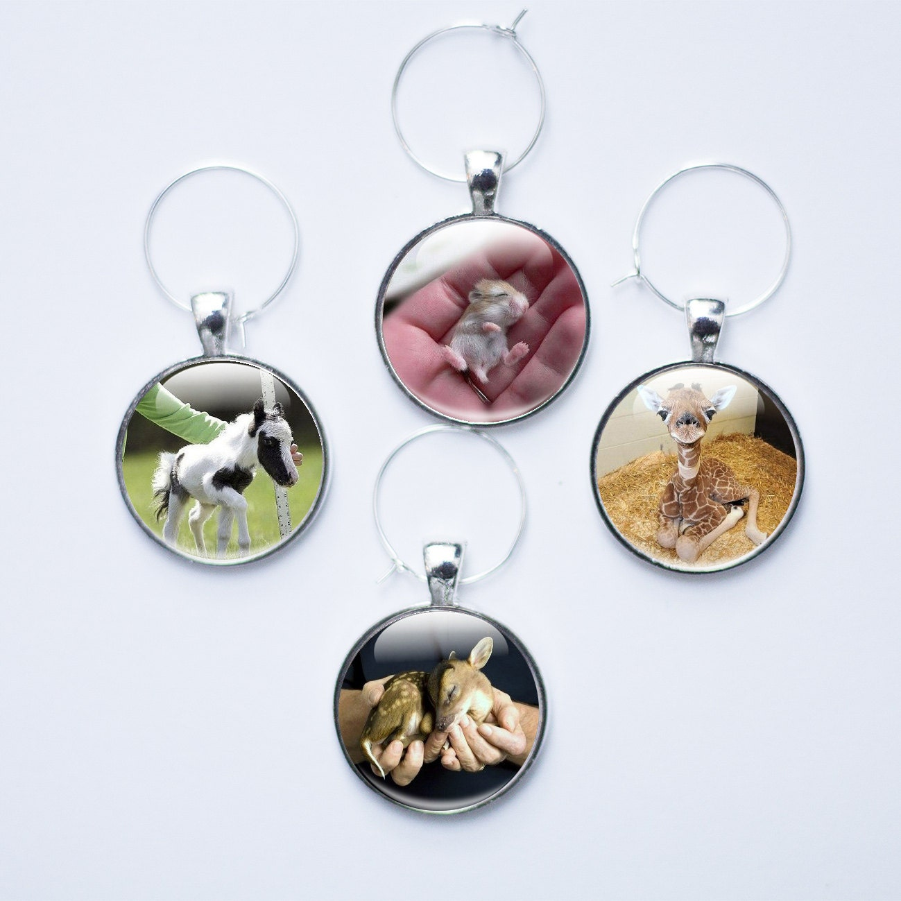 Pictures Of Charm Bracelets: Wine Charms Animal Wine Glass Charms Baby Animal Wine