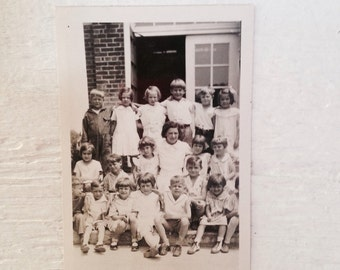 Antique Back To School Photograph - Black & White - Antique Kids Teacher School Photograph