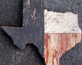 Reclaimed Barnwood Texas State Outline