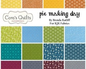 "Pie Making Day Charm Pack by RJR Fabrics - contains 24 - 5"" squares"