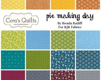 """Pie Making Day Charm Pack by RJR Fabrics - contains 24 - 5"""" squares"""
