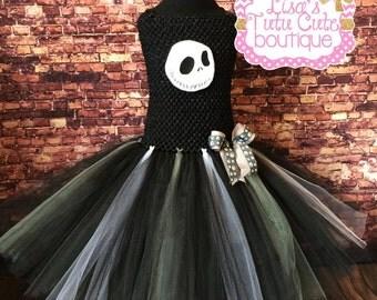 Jack tutu dress, Jack skellington tutu, Jack Skellington costume, Skeleton costume, Skeleton dress, Skeleton tutu dress