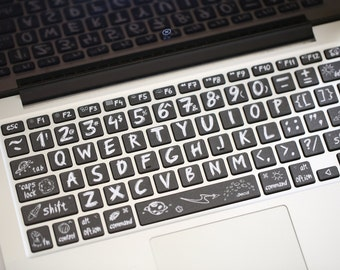 MacBook Keyborad protector Keyboard Skin Macbook Keyboard Decal Macbook Pro Macbook Air Sticker apple wireless keyboard  xiaoheiban