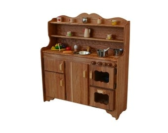 Waldorf Wooden Toy Kitchen-Hardwood Play Kitchen-Play Stove- Hardwood toy stove-Hardwood Toy Kitchen-Child's toy kitchen-Montessori Kitchen