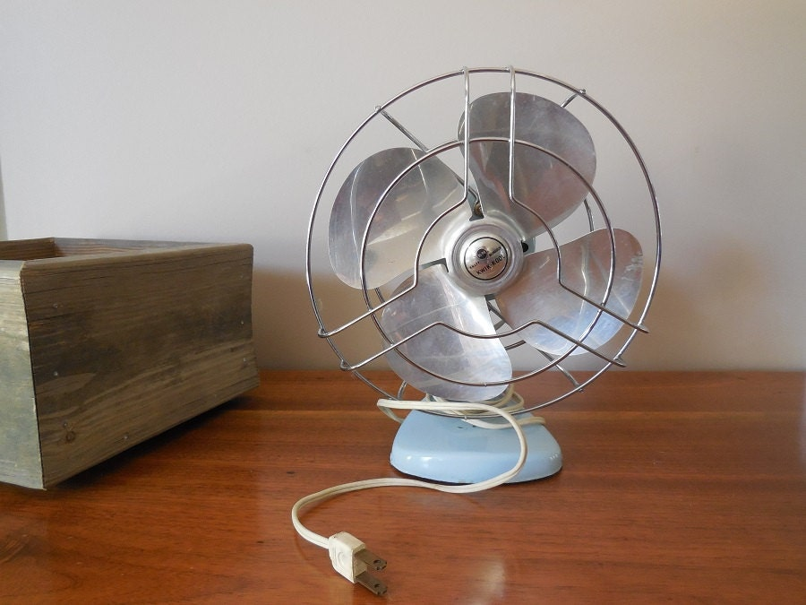 Vintage KWIK KOOL fan small electric desk FAN glamping decor