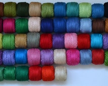 10 Mercerized cotton yarn - free shipping - choose any 10 colors