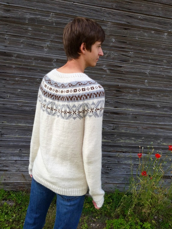 Fair Isle Sweater Men S Sweater Icelandic Sweater Alpaca
