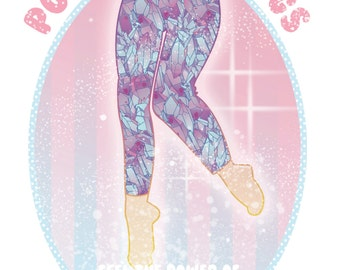 Made To Order Blue Crystal Leggings