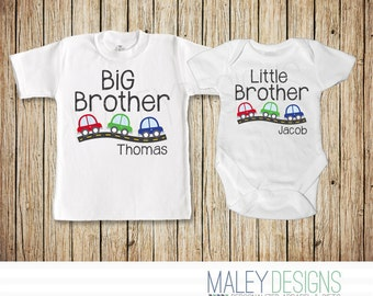 Big Brother Little Brother Shirt, Car Shirt, Brother Shirts