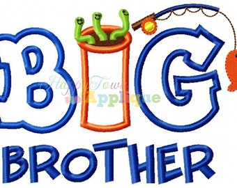 Big Brother Fishing Machine Embroidery Design