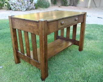 Authentic Mission / Arts and Crafts style library desk