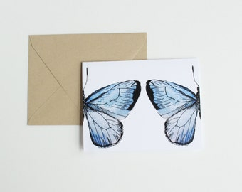 Butterfly, Blue – Greeting Card