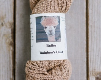 Alpaca Yarn, Bailey 100% Organic