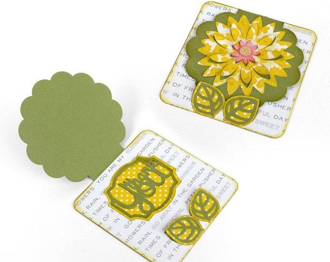 Sizzix Thinlits Die Set 11PK - Card, Fall Flowers by Rachael Bright 660650