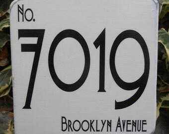 20cm x 20cm Art Deco House Number sign