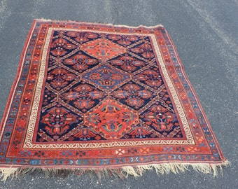 Antique 1910 Persian Afshar rug 4'9'' x 6'2''