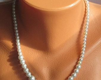 Graduated Glass Pearls in a Classic Necklace, as Seen on TV -- A Perfect Accessory