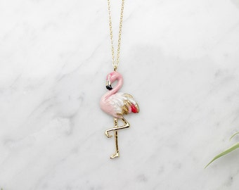 Flamingo Pendent Necklace