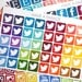 40 Social Media Icon Stickers for your Erin Condren Life Planner