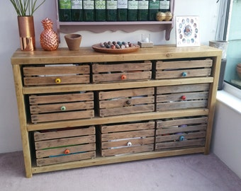 Vintage Apple Crate Bespoke Sideboard Unit - Made To Order