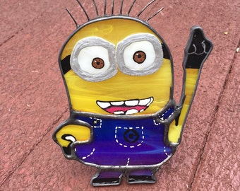 Stained Glass Minion Night Light or Sun Catcher ***Limited Edition***