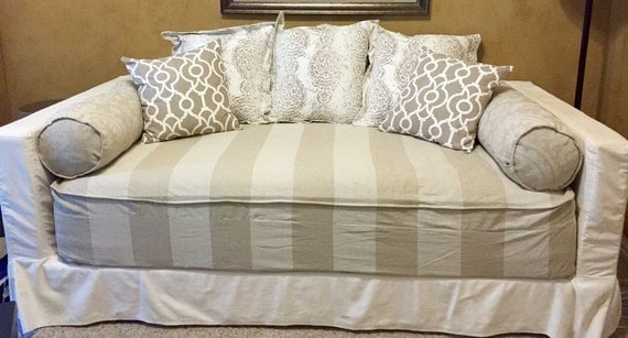 Fitted Daybed cover with CORDING PIPING in twin twin xl and