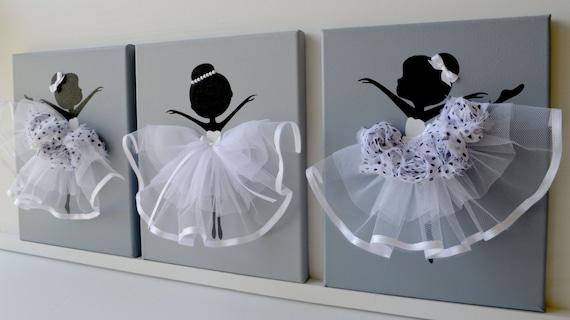 Tanzende ballerinas wand dekor. kinderzimmer von florasshop auf etsy