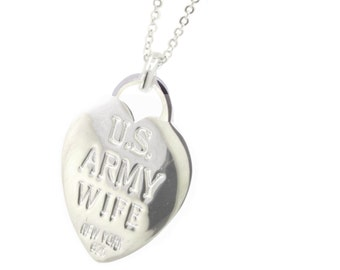 Rhodium Plated Army Wife Necklace (Free Shipping)