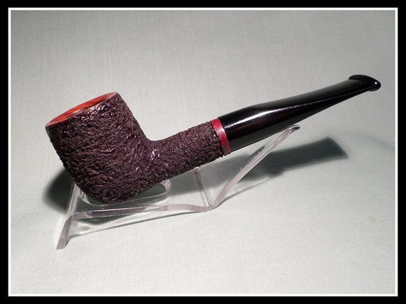 Briar Pipe – New & Un-Smoked Chip Carved Pipe with Smooth Rim and Band Hand Made by Chambersburg Pipe Works