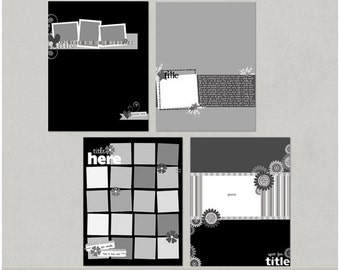 Sample Pack 8 - 8.5x11 Digital Scrapbooking Templates