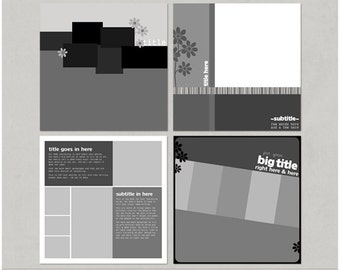AD It Up - 12x12 Digital Scrapbooking Templates