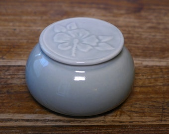 Tea caddy/ anything jar, porcelain