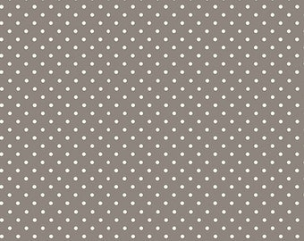 Half Yard - 1/2 Yard - Spot on in Silver - SOPHIA by Makower UK for Andover