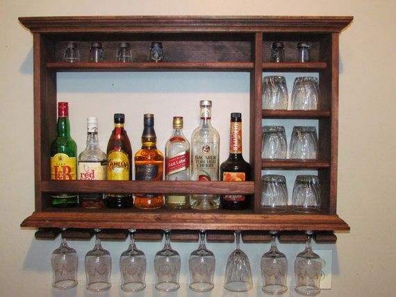 Mini Bar Red Mahogany Stain 3 39 X 2 39 Minimalist